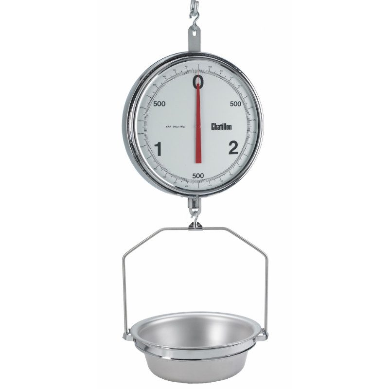 Chatillon: Hanging Scale- 1300 Series Hanging Autopsy and Life Science Scale, 13-inch Double Dial